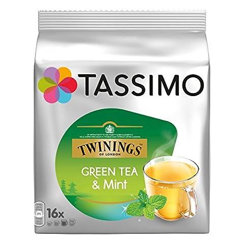 Tassimo Twinings Grüner Tee mit Minze, natürliches Minze-Aroma, Kapsel, 6er Pack, 6 x 16 T-Discs