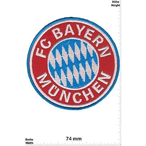 Patch - FC Bayern München -German record champions - Soccer Germany - Soccer Football - Soccer - Sport motoristici - Sport - Gioco del calcio - FC Bayern München- toppa - applicazione - Ricamato termo-adesivo - Patch