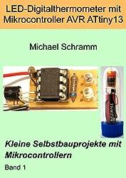 LED-Digitalthermometer mit Mikrocontroller AVR ATtiny13 (Kleine Selbstbauprojekte mit Mikrocontrollern)
