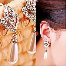 Moda Mujer™ Spritech globalpowder Corea elegante cristal pasandome, Pearl Chain, talla única