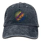 Voxpkrs Don't Trust Anyone All Seeing Eye Adult Sport Adjustable Baseball Cap Cowboy Hat DV856
