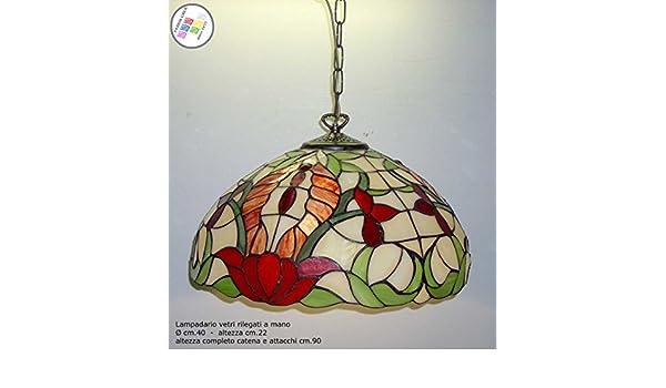 Lampadari E Plafoniere Tiffany : Lampadario vetri rilegati piombo liberty lampadari lav tiffany Ø