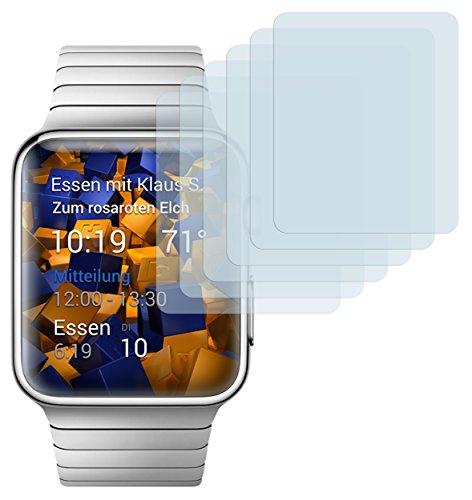 mumbi Schutzfolie kompatibel mit Apple Watch 38mm Series 1 Folie, Watch 38mm Series 2 Folie klar, Displayschutzfolie (6x)
