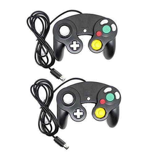 BW Bowink NGC Classic Wired Shock Joypad Game Stick Pad Controller für Wii Gamecube NGC Gc, Schwarz/Schwarz