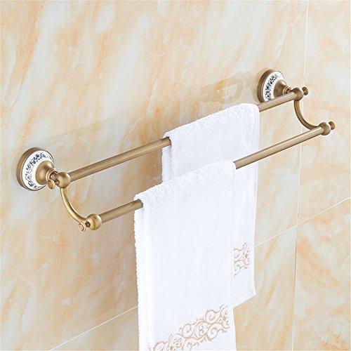 MBYW moderner, minimalistischer Handtuchhalter mit hoher Tragkraft Badhandtuchhalter Antiker Handtuchhalter aus antikem Kupfer-Handtuchhalter aus antikem Handtuch aus blauem und weißem Porzellan -