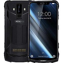 DOOGEE S90 - Smartphone Android 8.1 Polyvalent pour l'extérieur (Batterie 10050mAh), Helio P60 Octa-Core 6 Go + 128 Go, écran FHD + 6.18 '', IP68 étanche, Caméra Intelligente AI 16MP + 8MP - Noir