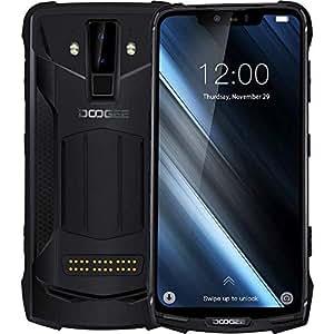DOOGEE S90 - Versatile outdoor Android 8.1 smartphone(10050mAh battery), Helio P60 Octa-core 6GB+128GB, 6.18'' FHD+ screen, IP68//IP69K waterproof/shockproof, 16MP+8MP smart AI camera - Black