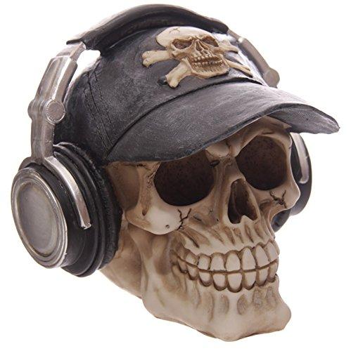 bick.shop Totenkopf Skull Totenschädel Coole Deko & Spardose Gothic schädel mit Basecape