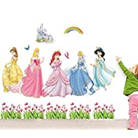 The Splash Cute Angels Wall Stickers (Multi-Color, Wall Covering Area - 100(w) x 80(h) cm)