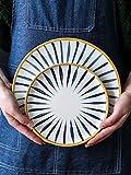 wushouye Handbemalte Keramikplatte Haushaltssteakplatte Westlicher Teller Teller Reisschüssel Teller