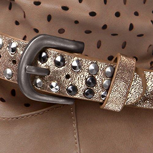 Diversi Rivetti Unghie Stb006 Donna Gioiello Colori Caspar Oro Con Avvio E Metallizzati Scarpa Per AqnWzF8w