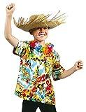 Chemise hawaienne à fleurs enfant--8 à 10 ans