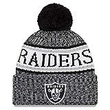 New Era NFL Sideline 2018 Bobble Beanie Oakland Raiders