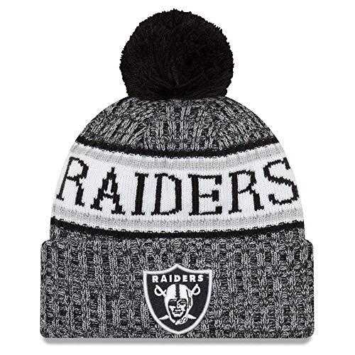 New Era NFL Sideline 2018 Bobble Mütze Oakland Raiders