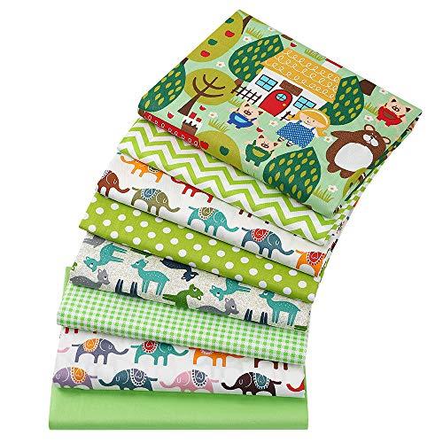 8 piezas 40 cm x 50 cm elefante impresiones 100% algodón tela...