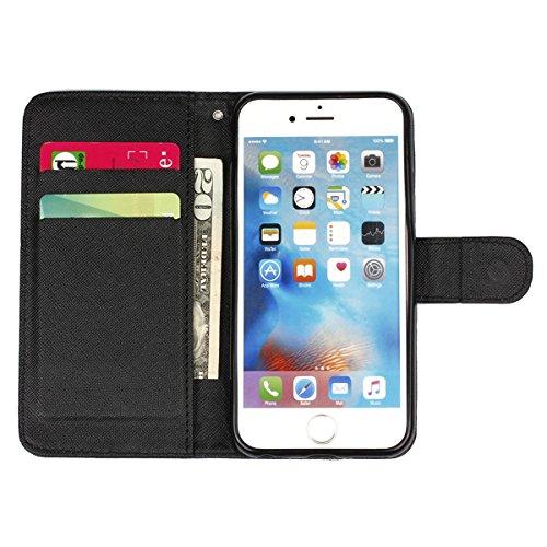 PU Silikon Schutzhülle Handyhülle Painted pc case cover hülle Handy-Fall-Haut Shell Abdeckungen für Smartphone Apple iPhone 6+Plus (5.5 Zoll)+Staubstecker (8XU) 5