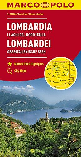MARCO POLO Karte Italien Blatt 2 Lombardei, Oberitalienische Seen 1:200 000 (MARCO POLO Karten 1:200.000)