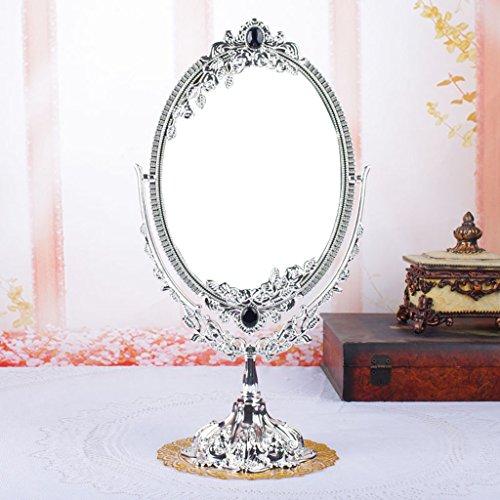 HD Europäische Spiegel-Make-up-Spiegel Desktop Princess Mirror Retro Doppel-Fassade Spiegel Schlafzimmer Arbeitsplatte Spiegel ( farbe : # 2 )