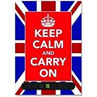 Keep Calm And Carry On Termometro Card (Union Jack). Basato sul mondo guerra II Poster. Arte Moderna. Un ottimo regalo.