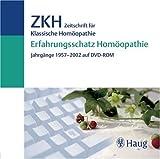 Erfahrungsschatz Homöopathie, ZKH Zeitschrift für klassische Homöopathie, 1 DVD-ROM Jahrgänge 1957-2002. Für Windows ab 98 SE