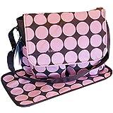 De gran tamaño de color marrón de color de rosa de flores y lunares de diseño de puntos de color de pañales de bolsa de pañales en los cambios de las bolsas de juego de copas de