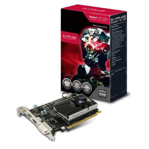 Sapphire R7 240 4GB DDR3 - Tarjeta gráfica (PCI-e, 4 GB, memoria DDR3