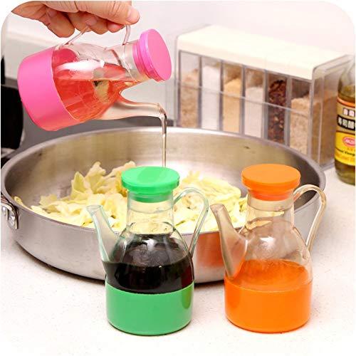 WEINANA Küche Sojasauce Topf Cruet Flasche Auslaufsicherer Kunststoff Cruet Ausgießer Flasche Flüssiges Gewürz Ölspender (Sauce Cruet)