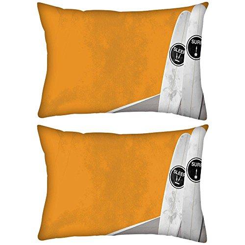 2Stück Sleep und Surf Rechteck Überwurf Werfen Kissenbezug, Decoarative Kissen Fall 50,8x 76,2cm Surf-throw-kissen