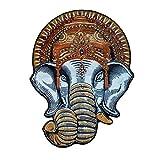 Großer Elefanten-Aufnäher mit Perlen, Handarbeit, Aufnäher für Tasche, Hut, Jeans, Stoffapplikation, zum Basteln