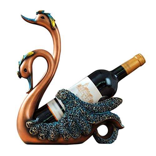 JBFZDS Cygne Casier À Vin En Forme, Porte-vin Décoration Coffret Vin Maison, Accessoires De Magasin De Cuisine Casier À Bouteille