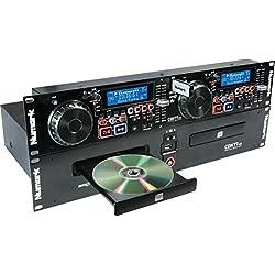 Numark CDN77USB - Double Lecteur USB et CD MP3 pour DJ Professionnel avec Ensemble Complet de Fonctionnalités et Compatibilité CD / CD MP3 et Tags et Dossiers ID3