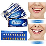 Teeth Whitening Strips,Teeth Bleaching,Teeth Whitening Kit,Teeth Whitening Zero Peroxide Strips Advanced Double Elastic Gel Strips Kit 28 Pcs 14 Treatments for Teeth Care,Mint Flavor