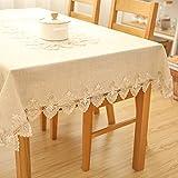 Unbekannt Liuyu · Lebendes Haus Tischdecke Stoff Baumwolle Hanf Tuch Art Einfache rechteckige Tee Tisch Hochzeit Restaurant Party Tisch (Dieses Produkt nur Tischdecken verkauft) (größe : 145 * 215cm)