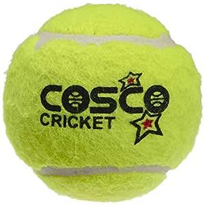 Cosco Light Weight Cricket Ball, Pack of 6 (Yellow)