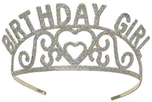 Beistle 60632Blättern Metall Birthday Girl Tiara (Happy Tiara Erwachsene Birthday)
