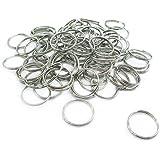 AF Lot de 100 mini anneaux de porte-clés Diamètre 15 mm