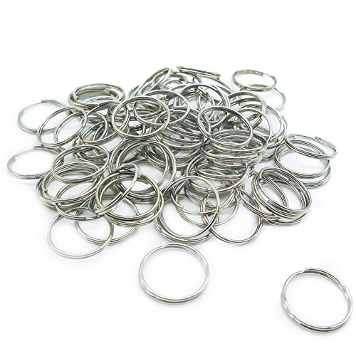 100 pezzi mini anelli per chiavi 15 mm diametro