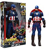 Marvel and Justice League Comic/Movie Super Hero Legends - 12 Inch Action Figure Toy with Sound and Batteries (Captain America)