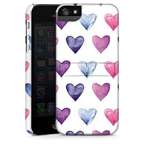 Apple iPhone X Silikon Hülle Case Schutzhülle Herz Muster Pink Premium Case StandUp