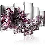 murando - Bilder 200x100 cm Vlies Leinwandbild 5 TLG Kunstdruck modern Wandbilder XXL Wanddekoration Design Wand Bild - Blumen Lilien Abstrakt b-A-0273-b-p