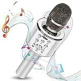 Microfono Karaoke Bambini per Cantare, Microfono Wireless Bluetooth con Cassa Integrata per Bambini e Adulti con Luci LED e Funzione Duetto