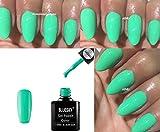 Blue Sky Qxg468Llight Vert menthe Vernis à ongles gel UV LED Soak Off 10ml Plus 2Homebeautyforyou Brillance Lingettes