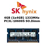 Hynix 4GB (1x 4GB) DDR3 1333MHz (PC3L 10600S) SO Dimm Low Voltage Notebook Laptop Arbeitsspeicher RAM Memory
