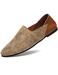 Bomba Hombres Cuero Zapatos casuales Ponerse Mocasín Oxford Estilo de Inglaterra Coincidencia de color Respirable Antideslizante Zapatos perezosos Conducción Zapatos Pedal Zapatos Tamaño de la UE 38-4 , beige , 42