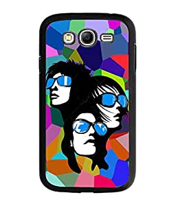 Fuson Multicolor Pattern Girls Back Case Cover for SAMSUNG GALAXY GRAND NEO - D3757