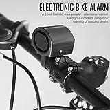 guoxuEE Mini elettronico Bicicletta Horn Elettrico Bike Bell Cycling Manubrio Ultra Forte Nero