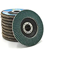 "NOVOABRASIVE Sanding Flap Disc 115mm, 125mm, 180mm Grit 40, 60, 80,120 (PACK OF 10 PCS) - Grinding Wheels 4.5"" for Angle Grinders For Sanding Cleaning Stainless Steel And Mild Steel"