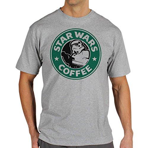 Starbucks Star Wars Coffee Storm Trooper Looking For A Mate Background Herren T-Shirt Grau