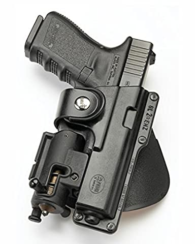 Fobus Tactical EM19RT RH Right Hand Light/Laser Polymer ROTO Paddle Holster For Glock 19 23 Walther P99 by Fobus