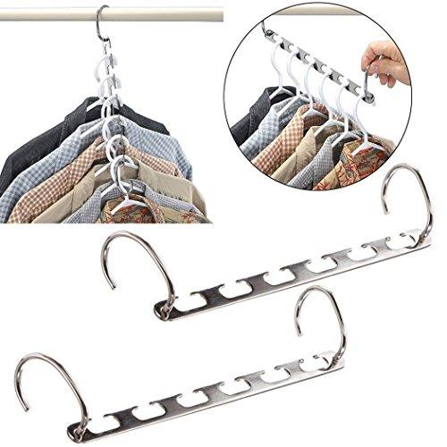 Yeelan Wonder Kleidung Wandschrank Aufhänger Metall Kleidung Organizer (2er-Set) (Kleider Vertikale)